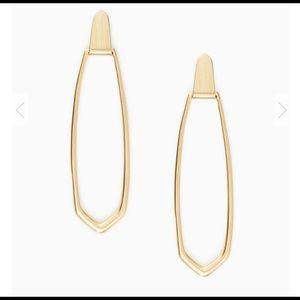Kendra Scott Patterson Hoop Earrings In Gold